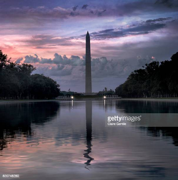 washington monument at dawn - national monument stock pictures, royalty-free photos & images