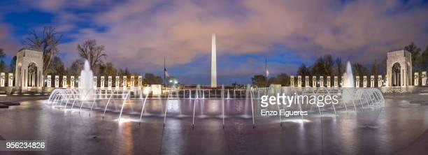 washington monument at dusk - washington monument washington dc stock pictures, royalty-free photos & images