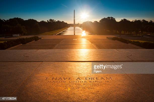 washington monument from the lincoln memorial - black civil rights stock pictures, royalty-free photos & images