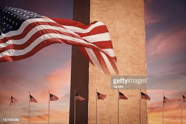 Washington Monument in Sunset Light