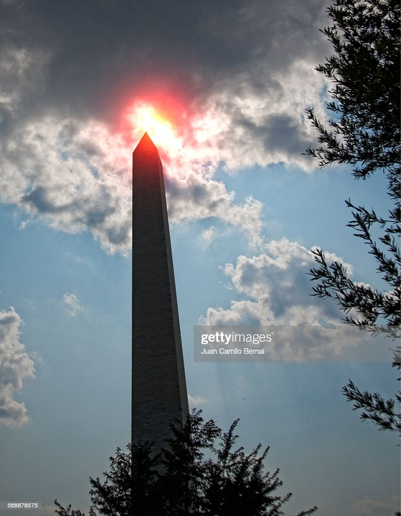 Washington Monument in Washington DC : Stock Photo