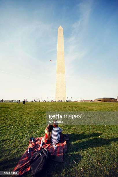 Washington Monuments in Washington DC.