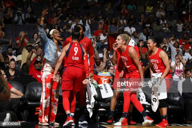 Washington Mystics react during game against the Minnesota Lynx on May 27 2018 at the Capital One Arena in Washington DC NOTE TO USER User expressly...