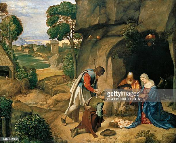 Washington National Gallery Of Art Adoration of the Shepherds or Allendale Nativity 15041505 by Giorgione oil on wood 908 x 1105 cm