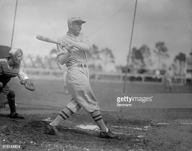Washington Nationals centre fielder, Tris Speaker at bat.