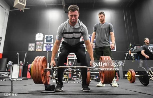 Washington Nationals first round pick Carter Kieboom works out at the Rapid Sports Performance Center as he prepares for spring training with Oakland...