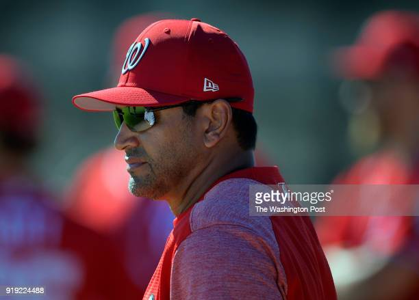 Washington Nationals manager Dave Martinez as the Washington Nationals pitchers and catchers participate in the first day of Spring Training at the...