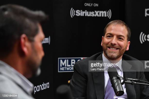 Washington Nationals manager Davey Martinez sits down for a SiriusXM Town Hall hosted by NBC's Chuck Todd at SiriusXM Studios on January 17 2020 in...