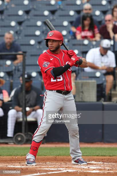 Washington Nationals outfielder Yadiel Hernandez during the MLB Spring Training game between the Washington Nationals and New York Yankees on...