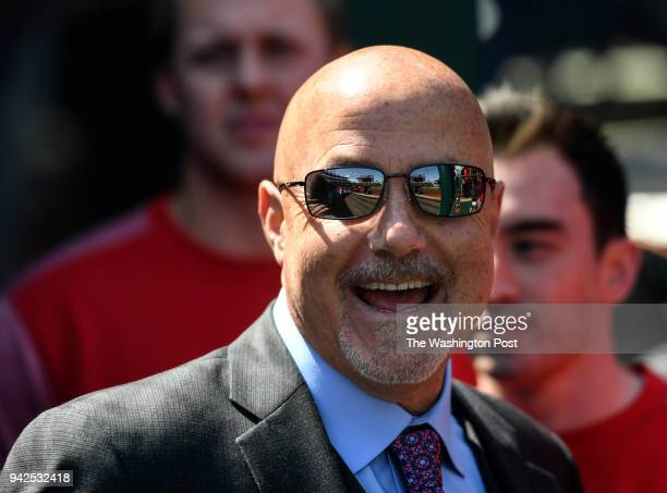 Washington Nationals President of Baseball Operations and General Manager Mike Rizzo before the season home opener against the New York Mets at...