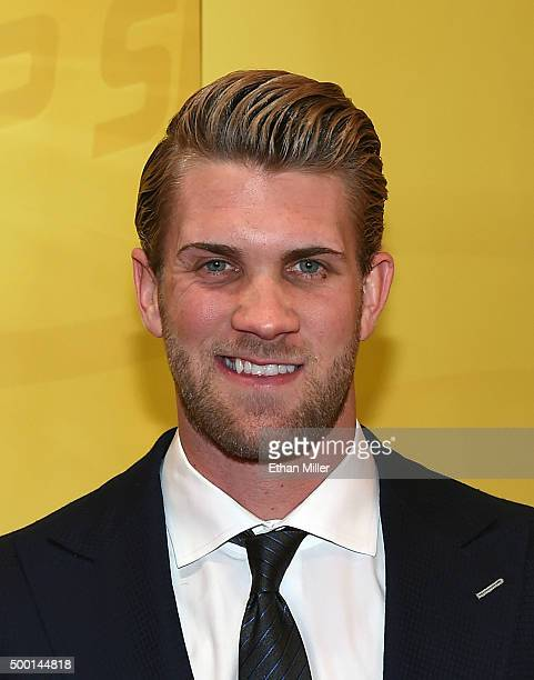 Washington Nationals right fielder and Major League Baseball 2015 National League Most Valuable Player Bryce Harper attends the 2015 NASCAR Sprint...