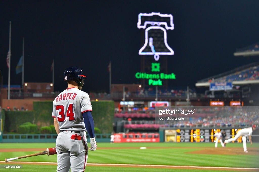 MLB: AUG 28 Nationals at Phillies : News Photo