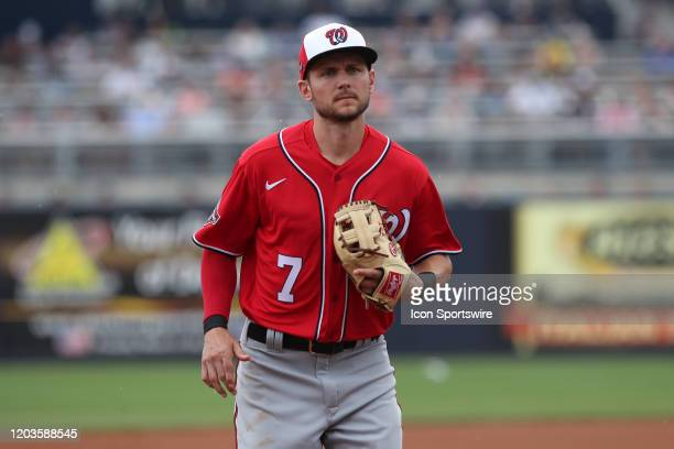 Washington Nationals shortstop Trea Turner during the MLB Spring Training game between the Washington Nationals and New York Yankees on February 26...