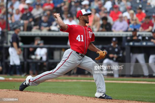 Washington Nationals starting pitcher Joe Ross during the MLB Spring Training game between the Washington Nationals and New York Yankees on February...