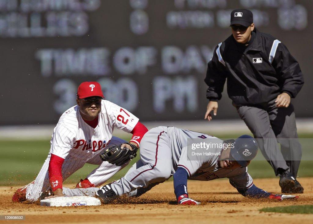 Washington Nationals vs Philadelphia Phillies - April 4, 2005