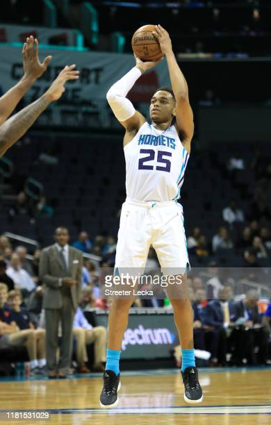 Washington of the Charlotte Hornets during their game at Spectrum Center on October 16 2019 in Charlotte North Carolina NOTE TO USER User expressly...
