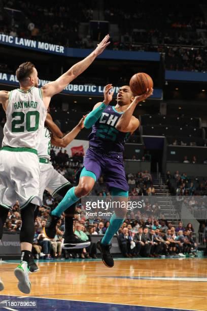 Washington of the Charlotte Hornets shoots the ball against the Boston Celtics on November 7 2019 at Spectrum Center in Charlotte North Carolina NOTE...