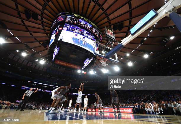 Washington of the Kentucky Wildcats takes a foul shot against the Monmouth Hawks at Madison Square Garden on December 9 2017 in New York City This...