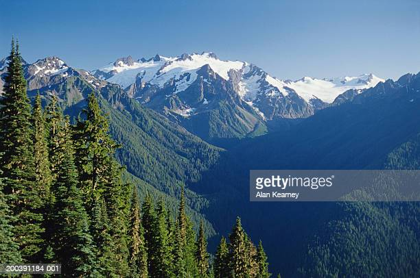 USA, Washington, Olympic National Park, High Divide, Mount Olympus