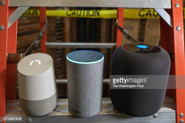 Washington Post reporter Geoff Fowler considers smart home assistants and devices Apple HomePod Google Home and Amazon Echo