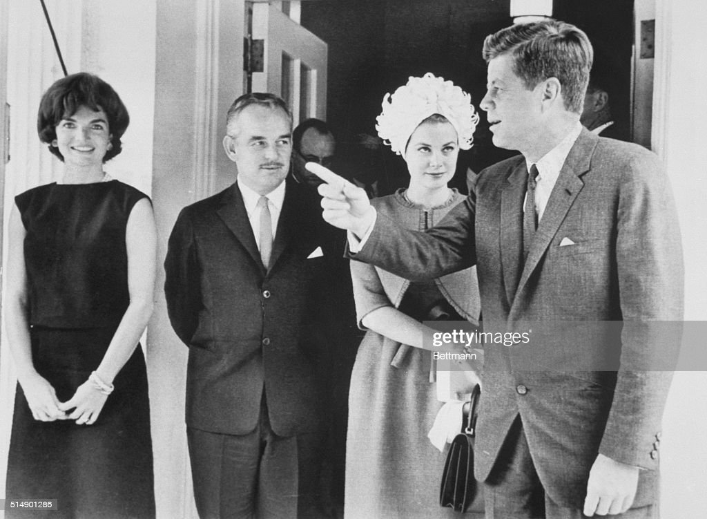 The Kennedys and Princes of Monaco : News Photo