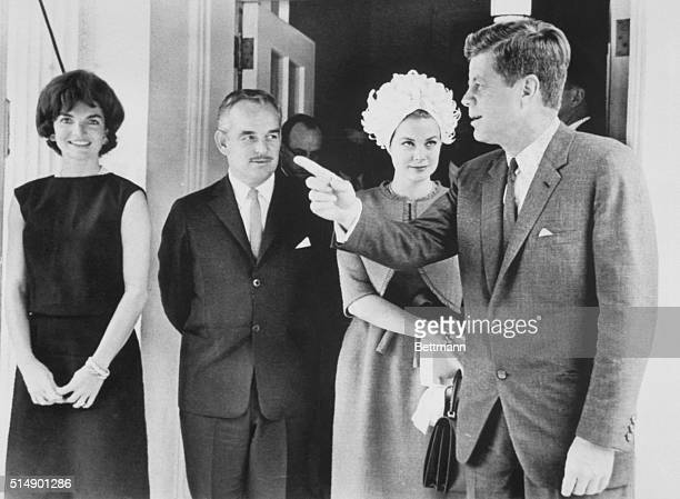 Washington: President and Mrs. Kennedy entertained May 24 at a small White House luncheon for Prince Rainier of Monaco and his former movie star...