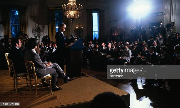 President Carter tells a group of about 150 U S Olympic athletes and officials 3/21 the United States will not go to the 1980 summer games in Moscow...
