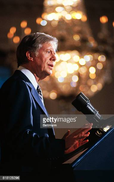 Washington: President Carter tells a group of about 150 U. S. Olympic athletes and officials 3/21 the United States will not go to the 1980 summer...