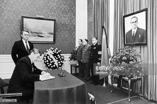 President Reagan went to the Soviet Embassy to convey his condolences on the death of Yuri Andropov much the same way he did some 15 months ago after...