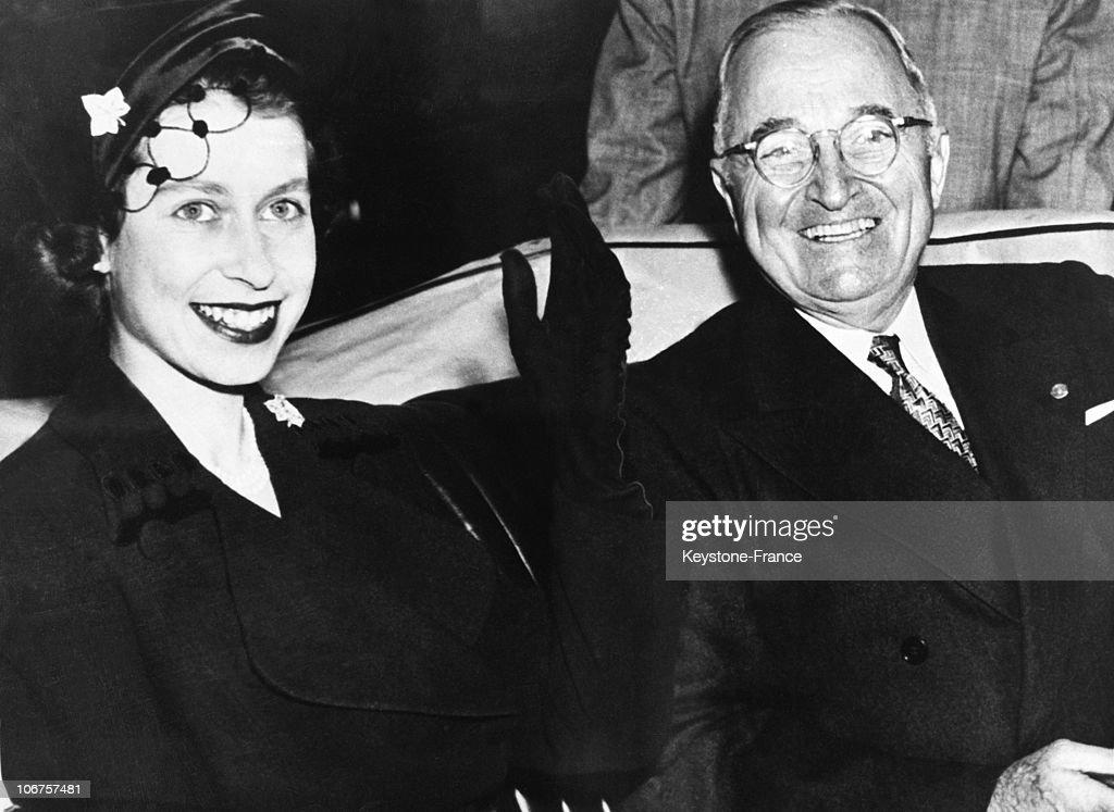 Washington, Princess Elizabeth And Us President Truman In 1951 : News Photo