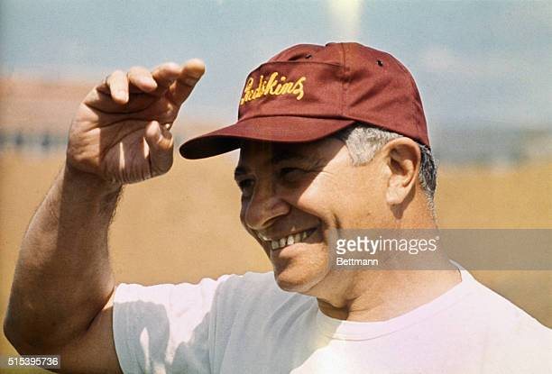 Washington Redskin coach Vince Lombardi is shown in head and shoulders shots during the football seasons first day's training