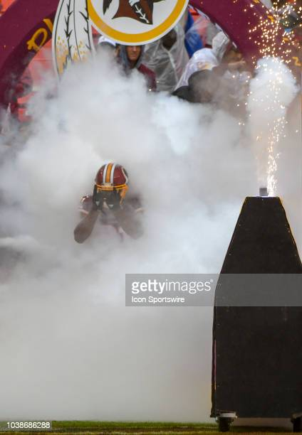 Washington Redskins cornerback Fabian Moreau comes out of the tunnel for the game on September 23 at FedEx Field in Landover MD The Washington...