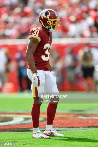Washington Redskins cornerback Fabian Moreau during the first half of an NFL game between the Washington Redskins and the Tampa Bay Bucs on November...