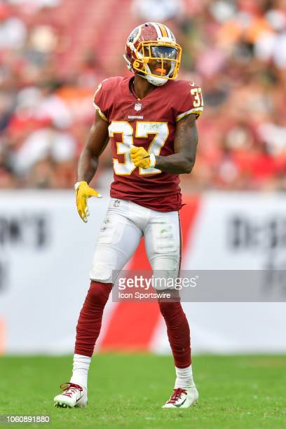 Washington Redskins cornerback Greg Stroman during the second half of an NFL game between the Washington Redskins and the Tampa Bay Bucs on November...