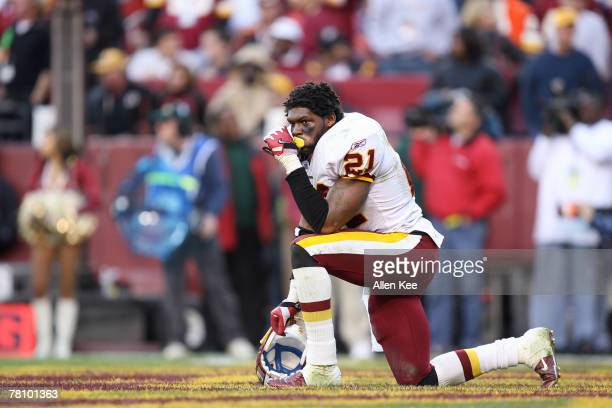 Washington Redskins defensive back Sean Taylor looks on against Oakland during the second half at FedEx Field in Landover Maryland on November 20...