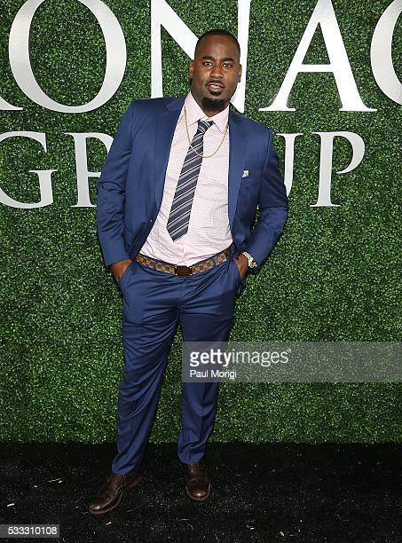 Washington Redskins Junior Galette attends The Stronach Group Owner's Chalet at 141st The Preakness at Pimlico Race Course on May 21 2016 in...