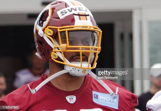 Washington Redskins linebacker Montez Sweat at the Redskins Rookie Mini Camp on May 11 at Inova Sports Performance Center at Redskins Park in Ashburn...