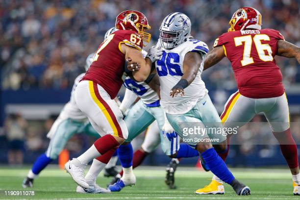 Washington Redskins Offensive Guard Wes Martin blocks Dallas Cowboys Defensive Tackle Maliek Collins during the NFC East game between the Dallas...