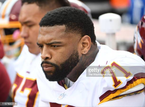 Washington Redskins offensive tackle Trent Williams during action against the New York Giants at MetLife Stadium