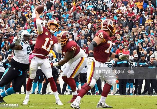 Washington Redskins quarterback Alex Smith in action on October 14 at FedEx Field in Landover MD The Washington Redskins defeated the Carolina...