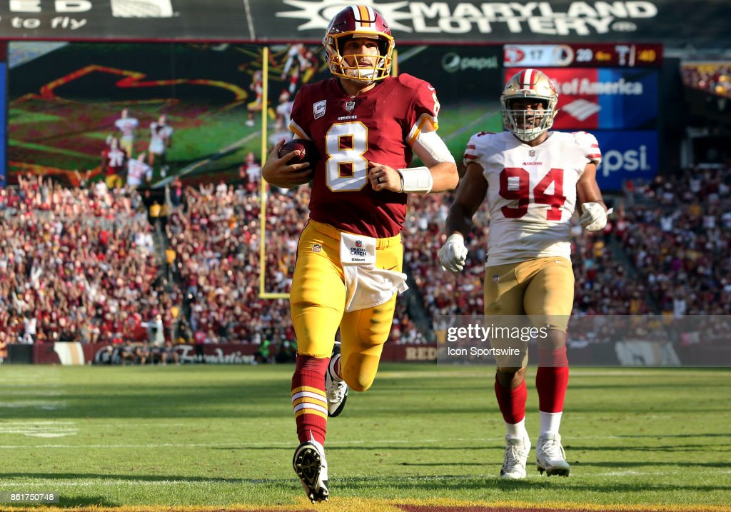 NFL: OCT 15 49ers at Redskins : News Photo