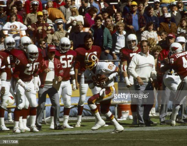 Washington Redskins replacement wide receiver Anthony Allen runs with the football after catching a pass during the Redskins 2821 victory over the St...