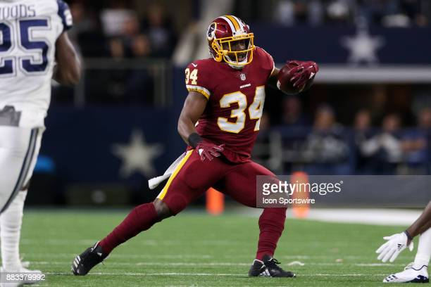 Washington Redskins running back Byron Marshall rushes with the ball during the Thursday Night Football game between the Washington Redskins and the...