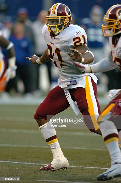 Washington Redskins safety Sean Taylor against the New York Giants at Giants Stadium in East Rutherford New Jersey on October 30 2005 The Giants won...