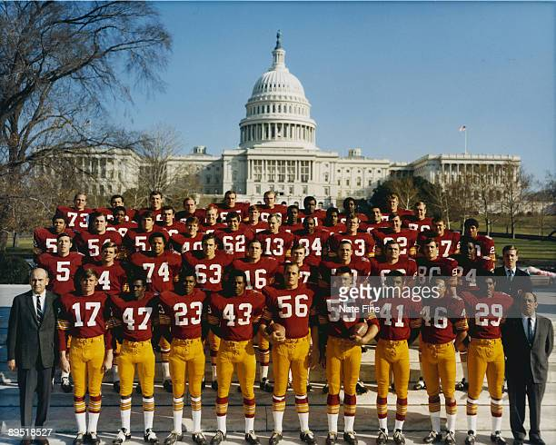 Washington Redskins team photo taken November 25 1969 in Washington DC