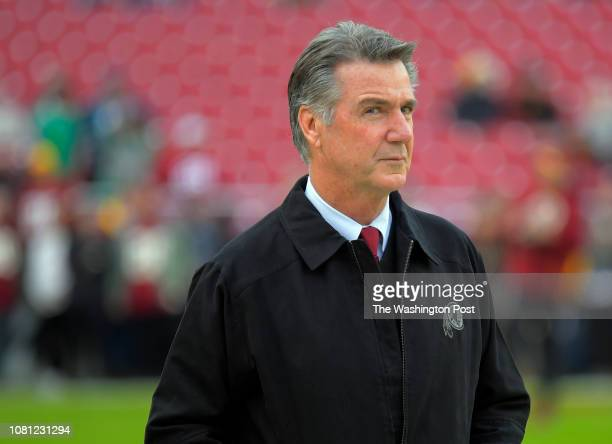 Washington Redskins team president Bruce Allen before a game between the Washington Redskins and the Philadelphia Eagles at FedEx Field in Landover...