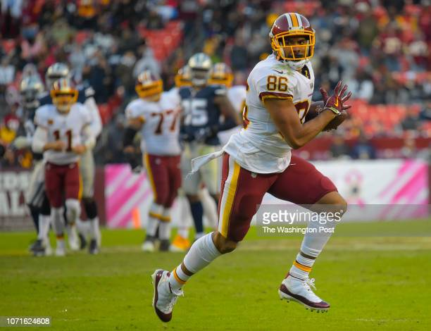 Washington Redskins tight end Jordan Reed during a game between the Washington Redskins and the Dallas Cowboys at FedEx Field on October 21 in...
