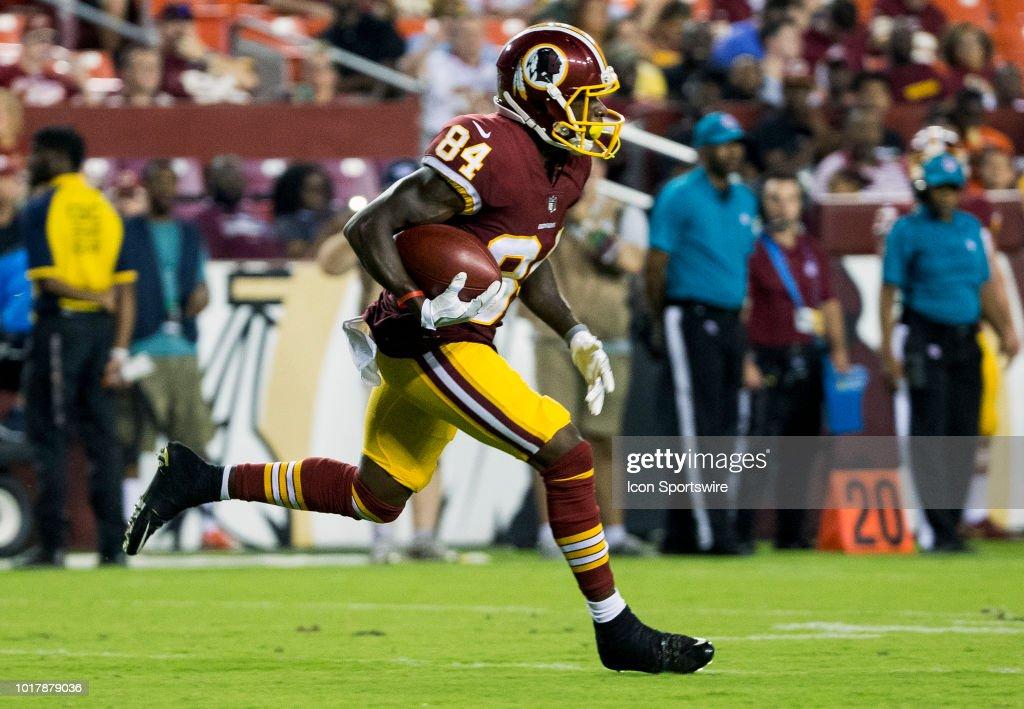 5f4fa3d1 Washington Redskins wide receiver Darvin Kidsy makes yardage during ...