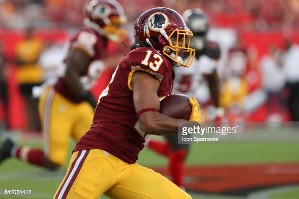 Washington Redskins wide receiver Maurice Harris in action during the NFL Preseason game between the Washington Redskins and Tampa Bay Buccaneers on...