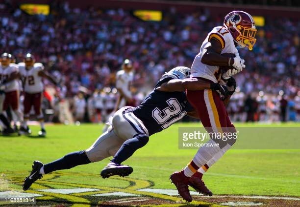 Washington Redskins wide receiver Terry McLaurin makes a reception for a touchdown against Dallas Cowboys cornerback Byron Jones on September 15 at...